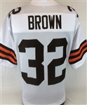 Jim Brown Cleveland Browns Custom Away Jersey Mens 3XL