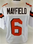 Baker Mayfield Cleveland Browns Custom Away Jersey Mens Large