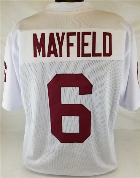 finest selection 73ced d27d3 Item Detail - Baker Mayfield Oklahoma Sooners Custom Away ...